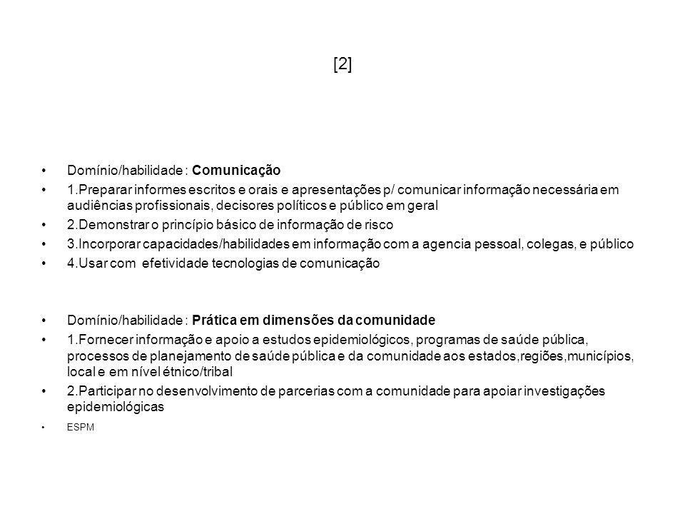 [2] Domínio/habilidade : Comunicação
